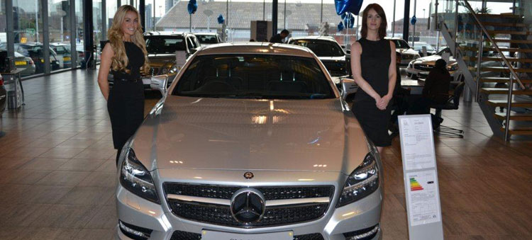 Promotional models - Mercedes CLS